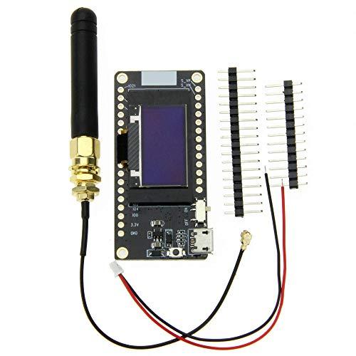 DollaTek LORA32 V2.0 868MHz ESP32 Lora OLED 0.96 Pulgadas Tarjeta SD Módulo Bluetooth WiFi con Pantalla Azul con Antena