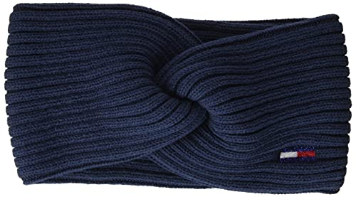 Tommy Jeans Damen Tjw ESS Flag Headband Beanie-Mtze, Marineblau (Twilight Navy), Einheitsgröße