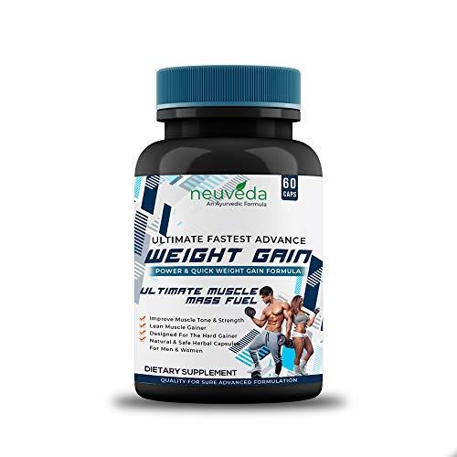 Neuveda Weight Gain Capsules | Ayurvedic Weight Gain Supplement - 60 Capsules (Pack of 1)