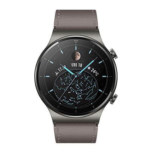 """HUAWEI WATCH GT 2 Pro Smartwatch, Touchscreen 1.39"""" AMOLED HD, 2 settimane di utilizzo con una ricarica, GPS e GLONASS, SpO2, 100+ Modalità di allenamento, Chiamate Bluetooth, Grigio (Gray)"""