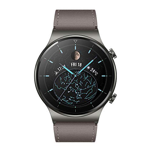 HUAWEI WATCH GT 2 Pro Smartwatch, 1.39 inch AMOLED HD Touchscreen, 2 weeks of use on one charge, GPS and GLONASS, SpO2, 100+ Training Modes, Bluetooth Calls, Gray