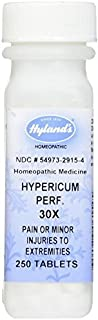 Hylands Homeopathic Hypericum Perf 30X 250 Tab