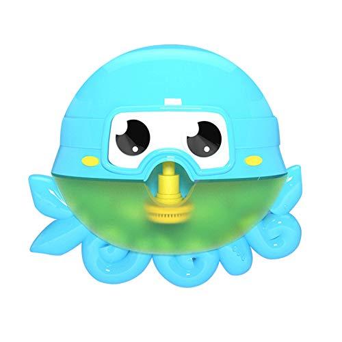 Interesante Máquina de burbujas de baño para niños Agua de baño para bebés automáticos Hombres niña bebé octopus cangrejo escupir burbuja juguetes divertidos juguetes (gratis de batería) Juguetes de b