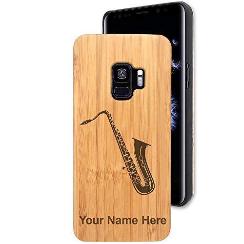 Bamboo Case for Galaxy S9/S9+ Plus, Saxophone, Personalized Engraving Included