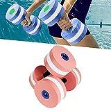 Juego de 2 mancuernas de espuma EVA para deportes acuáticos, para entrenamiento aeróbico, para pérdida de peso