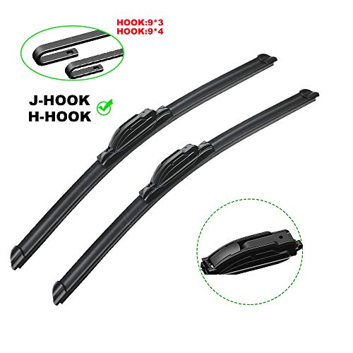 "Rooppa OEM QUALITY 20"" + 24"" Premium All-Season Windshield Wiper Blades (Set of 2),1 Year Warranty"