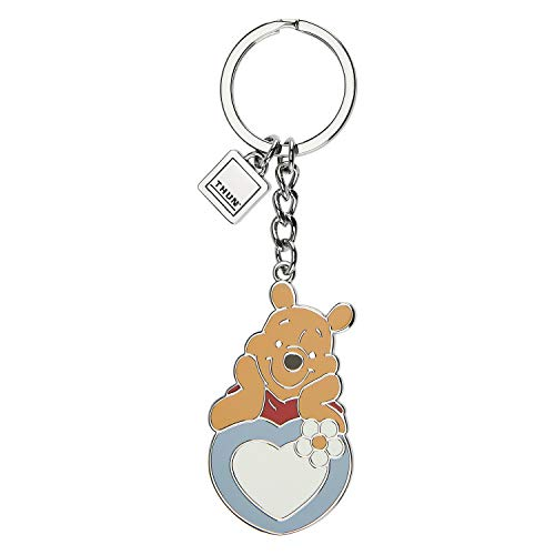 THUN - Portachiavi Winnie The Pooh Disney - Portachiavi Idea Regalo - Linea Color Your Easter - Lega di Zinco Placcato e Ottone Placcato - 3,2x5,4 h cm