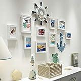 Relaxbx Kreative Fotowand, Massivholz-Fotorahmenwand, kreative Fotorahmenwand, Wand Bilderrahmen...