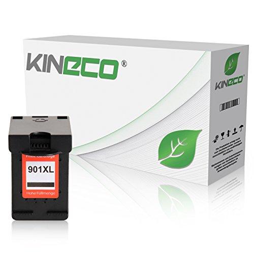 Kineco Tintenpatrone kompatibel mit HP 901 XL für OfficeJet 4500 J4580 J4680 - Schwarz 20 ml
