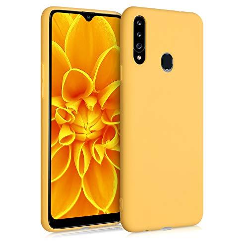kwmobile Custodia Compatibile con Samsung Galaxy A20s - Cover in Silicone TPU - Back Case per Smartphone - Protezione Gommata Giallo Zafferano