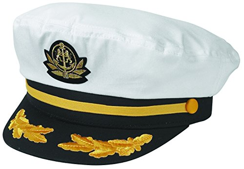 Broner White Flag Ship Yacht Cap. One Size Fits Most.