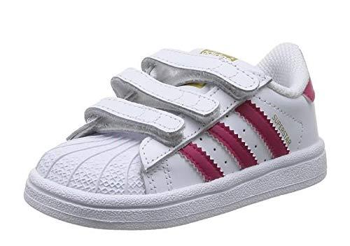 adidas Superstar Foundation CF, Baskets bébé Fille, Blanc (Footwear White/Bold Pink/Footwear White), 23