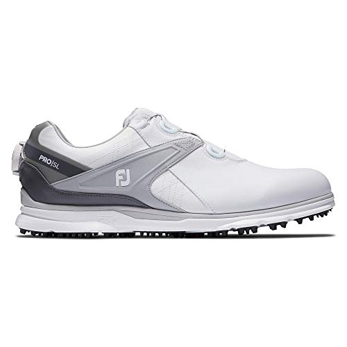 Footjoy Pro SL, Chaussure de Golf Homme, Blanco/Gris, 44.5...