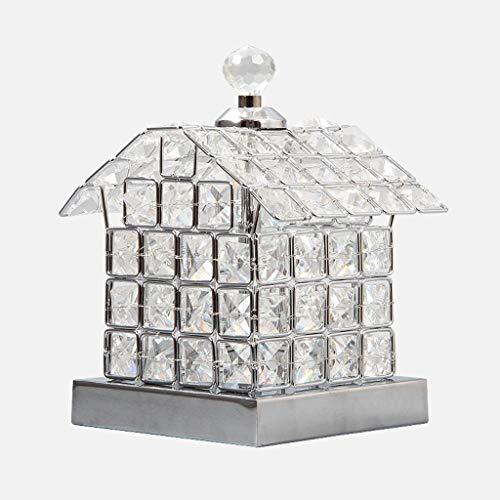 JUNYYANG Lámparas de Mesa, Personalidad Simple de la Personalidad Creativa Living Luces del Dormitorio de la lámpara de Cristal, Casa hogar Creativo de Plata Lectura luz de la Noche, Oro