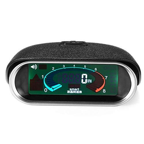 Cineman - Medidor de revoluciones para coche, LCD 50-9999 rpm, universal, para coches, remolques, barcos, excavadoras, vehículos de construcción, carretillas elevadoras