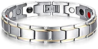 Medical energy bracelet with germanium stone and magnet to get rid of electrical charges in the body and the balance of wo...
