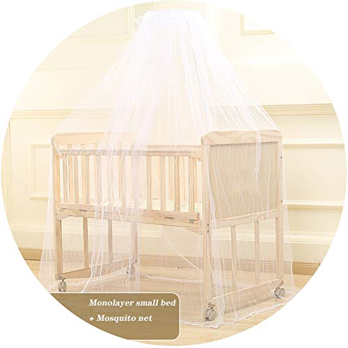 Buy XJJUN-Rocking crib Single Layer Swing Can Be Spliced and Queen Mosquito Net Mattress Storage Lay...