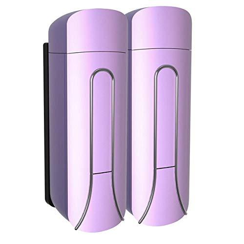 LKU Badkamer zeepdispenser keuken plastic 350ml douchegel shampoo shampoo fles, paars 2