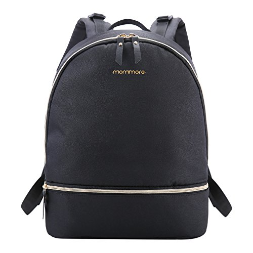 mommore Diaper Bag Backpack Lightweight Diaper Bag Baby Nappy Changing Bags for Baby Care, Black