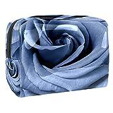Kit de Maquillaje Neceser Rosa Azul Make Up Bolso de Cosméticos Portable Organizador Maletín para Maquillaje Maleta de Makeup Profesional 18.5x7.5x13cm