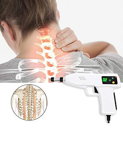 Sawera Elektrische Handmassagegeräte Massagepistole, Elektrische Chiropraktik Werkzeug mit 5 Verschiedene Massageköpfen, zur Wiederherstellung der Fitness