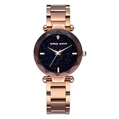 Mujer Relojes, L'ananas 2020 Moda Corte de Diamantes Dial Estrellado del Cielo Malla Correas Pulsera Reloj de Pulsera Women Watches Bracelet