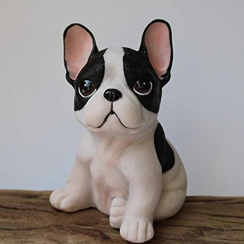 Figura de resina de 15cm de cachorro Frenchie