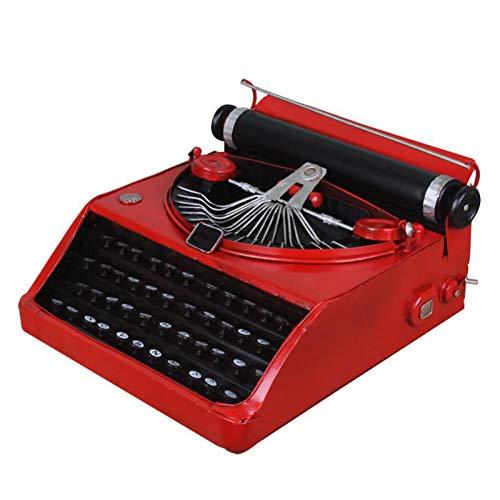 LUCKFY Retro Metall Schreibmaschine, Vintage Schreibmaschinen-Modell, Retro Handwerk Antike Schreibmaschine Modell, für Haus, Bar Dekoration, Filmrequisiten