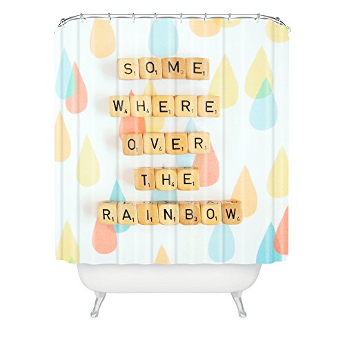 DENY Designs Happee Monkee Somewhere Over The Rainbow Duschvorhang, 175,3 x 182,9 cm