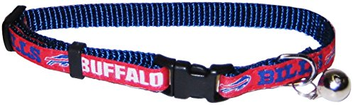 COLLAR for CATS - NFL BUFFALO BILLS CAT COLLAR. - Strong & Adjustable FOOTBALL Cat Collars with Metal Jingle Bell