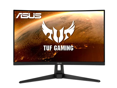 ASUS TUF Gaming VG27VH1B Gaming Monitor –27 inch Full HD (1920x1080), 165Hz (above 144Hz), Extreme Low Motion Blur, Adaptive-sync, FreeSync™ Premium, 1ms (MPRT), Curved
