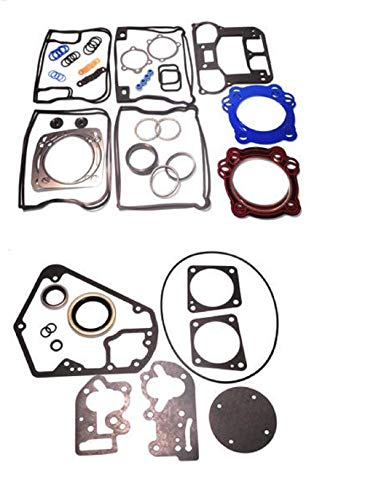 Replacement Upper or Top End & Base Full Gasket set Kit compatible with 1984-91 Harley Evo 1340 Big Twin engines in Standard Bore