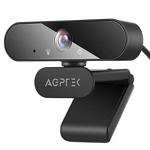 AGPTEK Webcam 1080P Full HD con Microfono e Treppiedi,USB Web Camera per PC Desktop Laptop Videocamera per Mac Windows Autofocus Telecamera pc per Streaming,Conferenza,Chat,Studio,Videochiamate