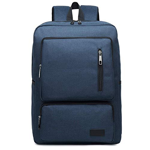 SHRAY Backpacks/Sleeves Fashion Large Capacity Casual Notebook Tablet Backpack, Product Size: 44cmx30cmx12cm (Color : Brown) Blue