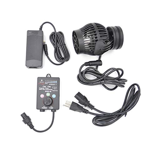 Jebao SOW Wave Maker Flow Pump with Controller for Marine Reef Aquarium (SOW-20), Black