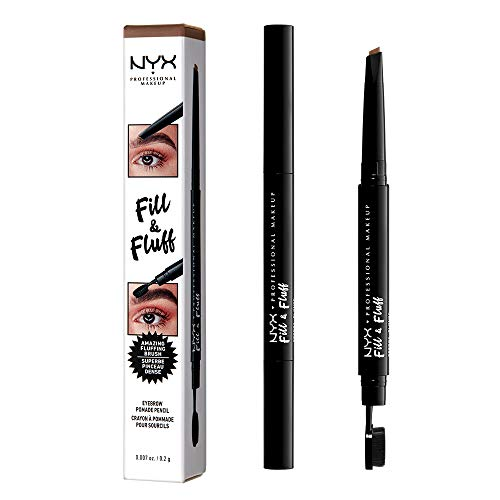 NYX PROFESSIONAL MAKEUP Fill & Fluff Eyebrow Pomade Pencil, Auburn