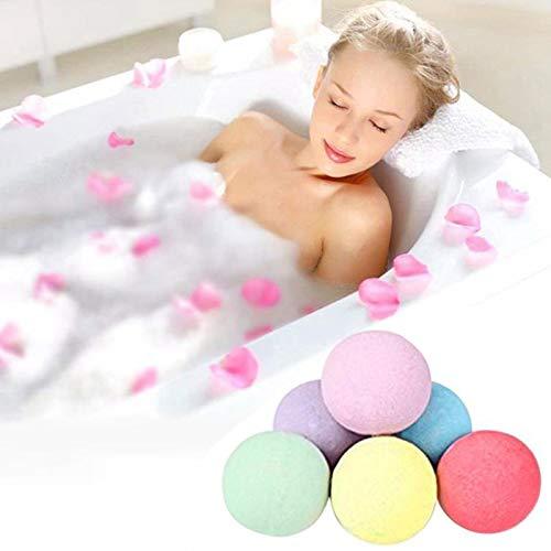 XiaoOu 10/60g Bath Salt Bombs Balls Whitening Moisture Essential Oil Body Scrub Natural Bath Salt Bombs Gifts for Women