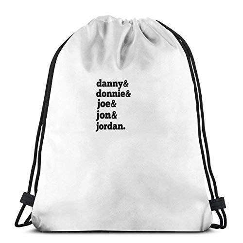 N / A Unisex Drawstring Bags,Kids On Block List Waterproof Foldable Sport Sackpack Gym Bag Sack Drawstring Backpack