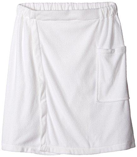 DII Men's Adjustable Microfiber Shower Wrap for Saunas, College Dorms, Pools, Gyms, Beaches, Locker Rooms, Bathroom, 54 x 20 - White