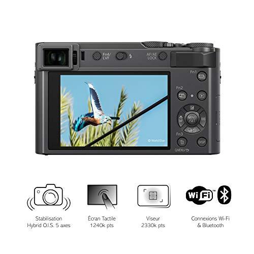 Panasonic Lumix TZ200 | Kompaktkamera Expert (großer Sensor Typ 1 Zoll 20 MP, Zoom Leica 15x F3.3-6.4, Sucher, Touchscreen, Video 4K, Stabilisation) Silber - Französische Version