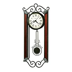 Howard Miller Carmen Wall Clock 625-326 – Wrought-Iron with Quartz Movement