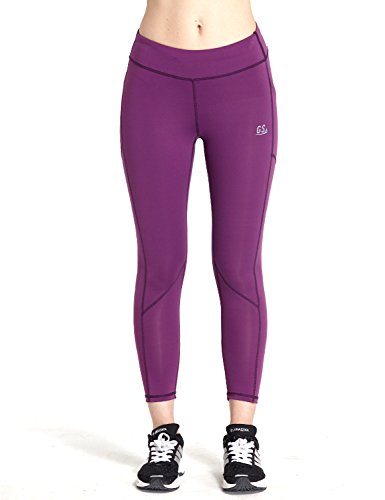 Goodsport Women's Moisture-Wicking Fitted Cropped Legging, Gloxinia Purple, Large