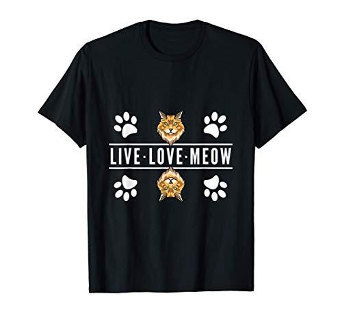Amo a mi gato Maine Coon, vivo el amor miau Camiseta