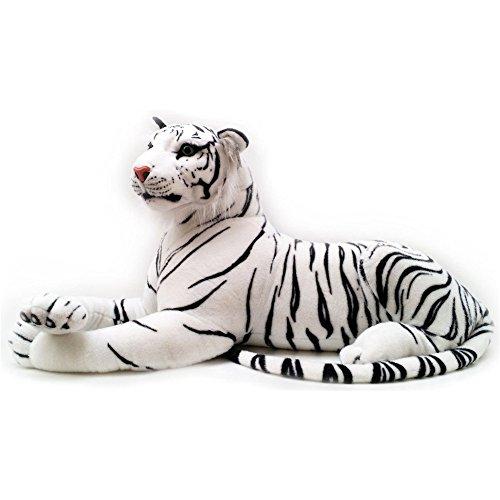 Qinlee Kuscheltier Niedlich Tiger Plüsch Spielzeug Kissen Weiß 30cm (11.8 in)
