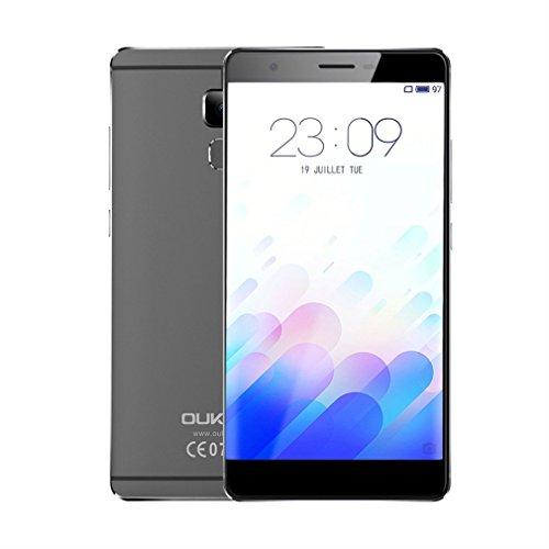 OUKITEL U13Octa Core 5.5pollici FHD Android 6.0Smartphone 3GB RAM 64GB ROM di doppia fotocamera 13mp 8MP–Grigio