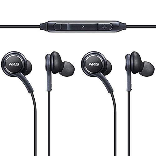 Original AKG Kopfhörer 2-er Set In-Ear Headset mit Anrufannahme-Taste und Lautstärke-Regler satte Bässe Stereo Sound EO-IG955 Bulk Schwarz