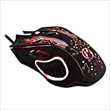 YANGJIAN Estone X9 USB 6 Buttons 5000 DPI Wired Multi Color LED Optical Gaming Mouse for Computer PC Laptop(Black)