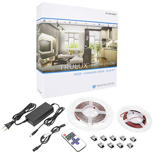 TRULUX STL-WW-5MKIT Collection IP54 High-Output LED Tape Light Kit, Reel, Warm White 3000K