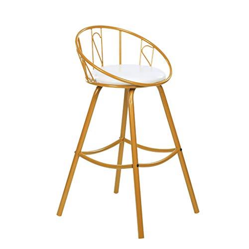 Tabouret de bar en fer forgé Chaise de bar Tabouret haut doré Chaise de salle à manger moderne Chaise de salon Tabouret de bar