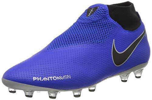 Nike Unisex-Erwachsene Phantom Vsn Df Ag-pro Fußballschuhe, Mehrfarbig (Racer Blue/Black-metallic Silver-Volt 400), 44.5 EU